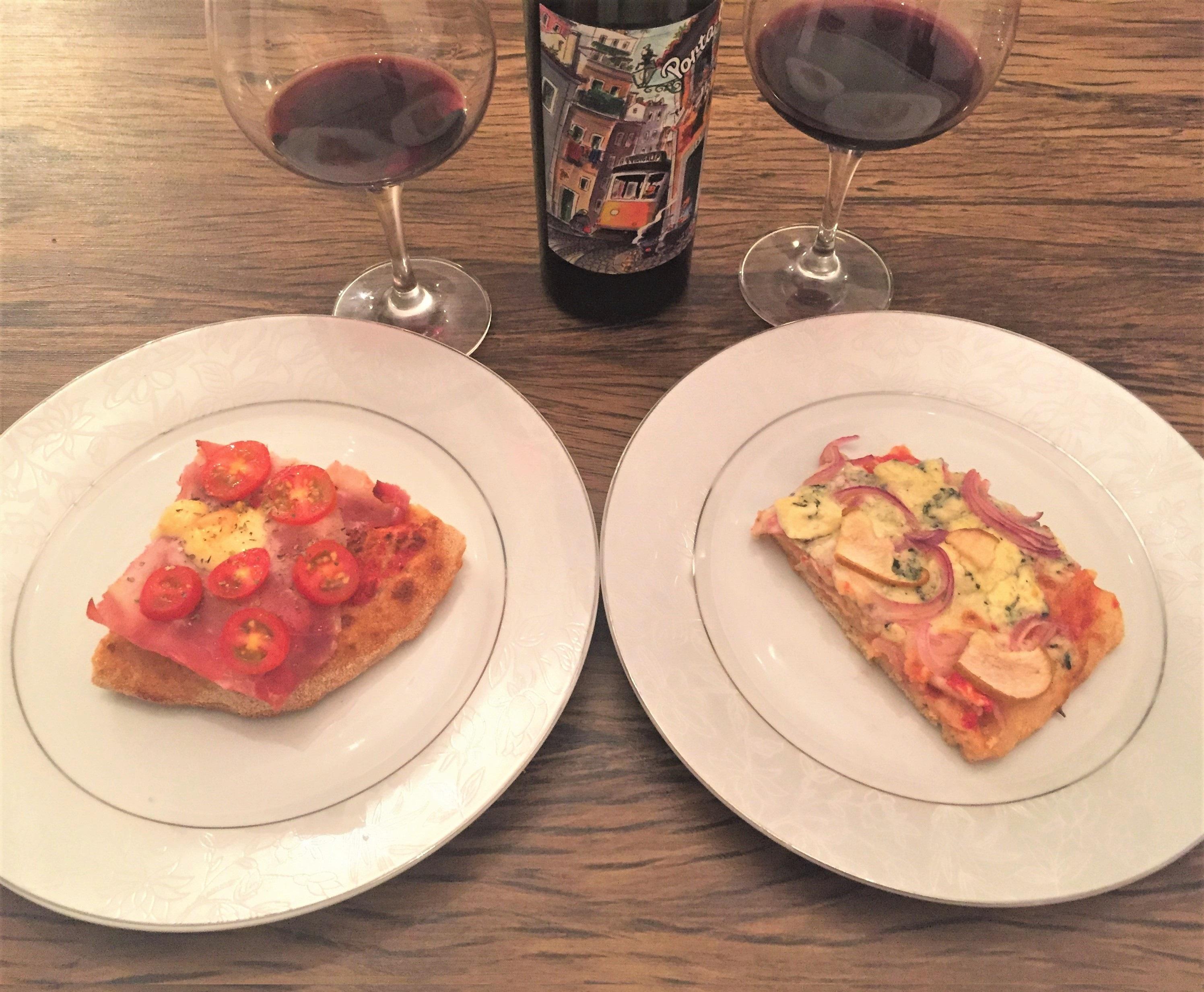 Harmonização vinho tinto e pizza