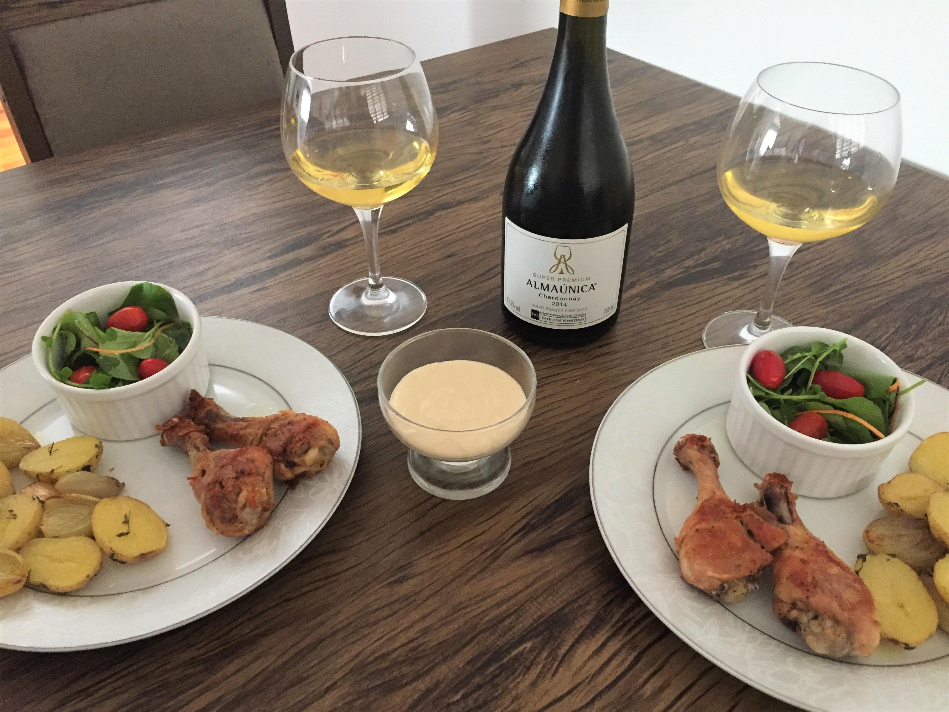 Harmonização vinho branco frango