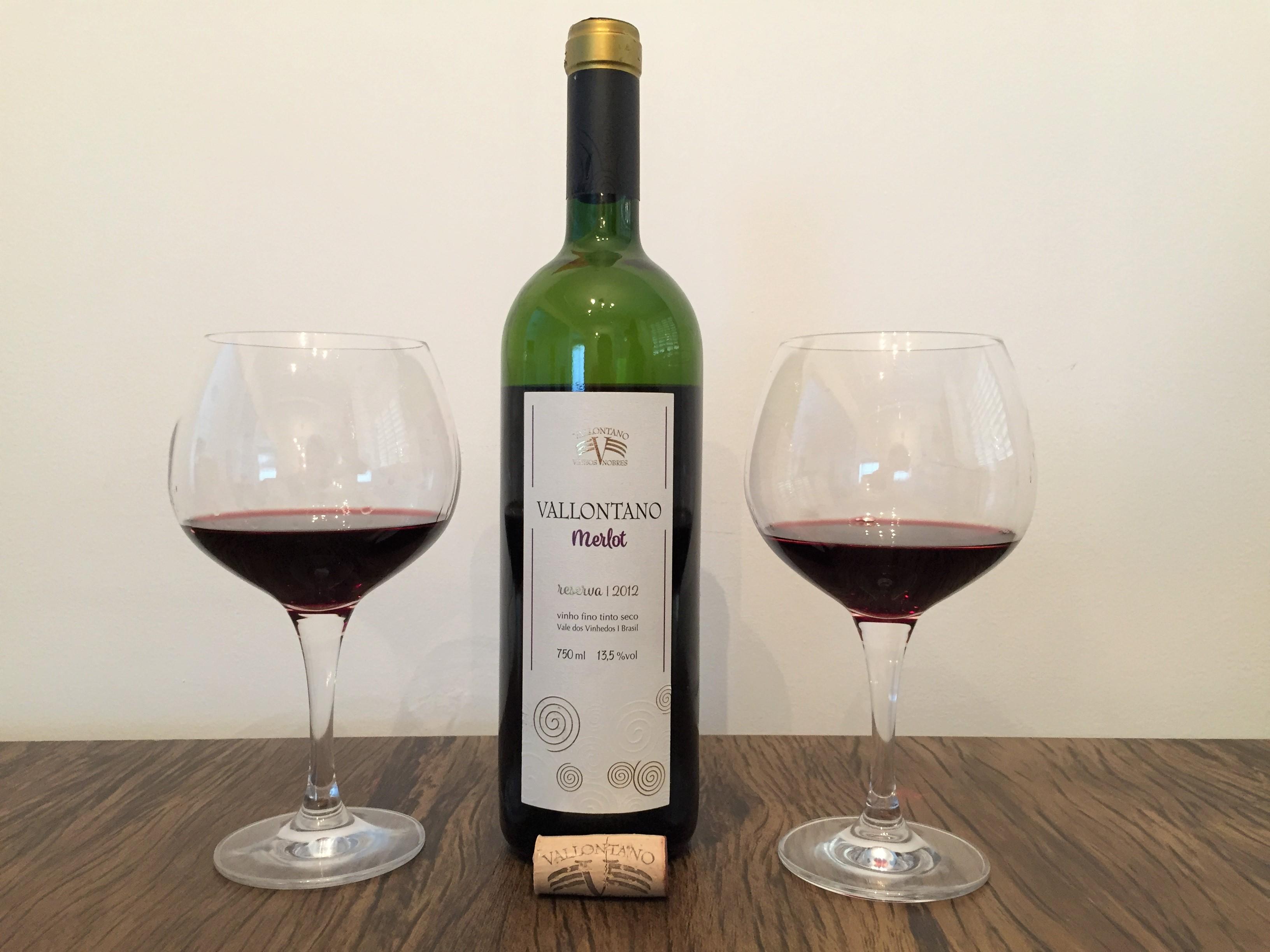 Vinho Tinto Vallontano Merlot Reserva