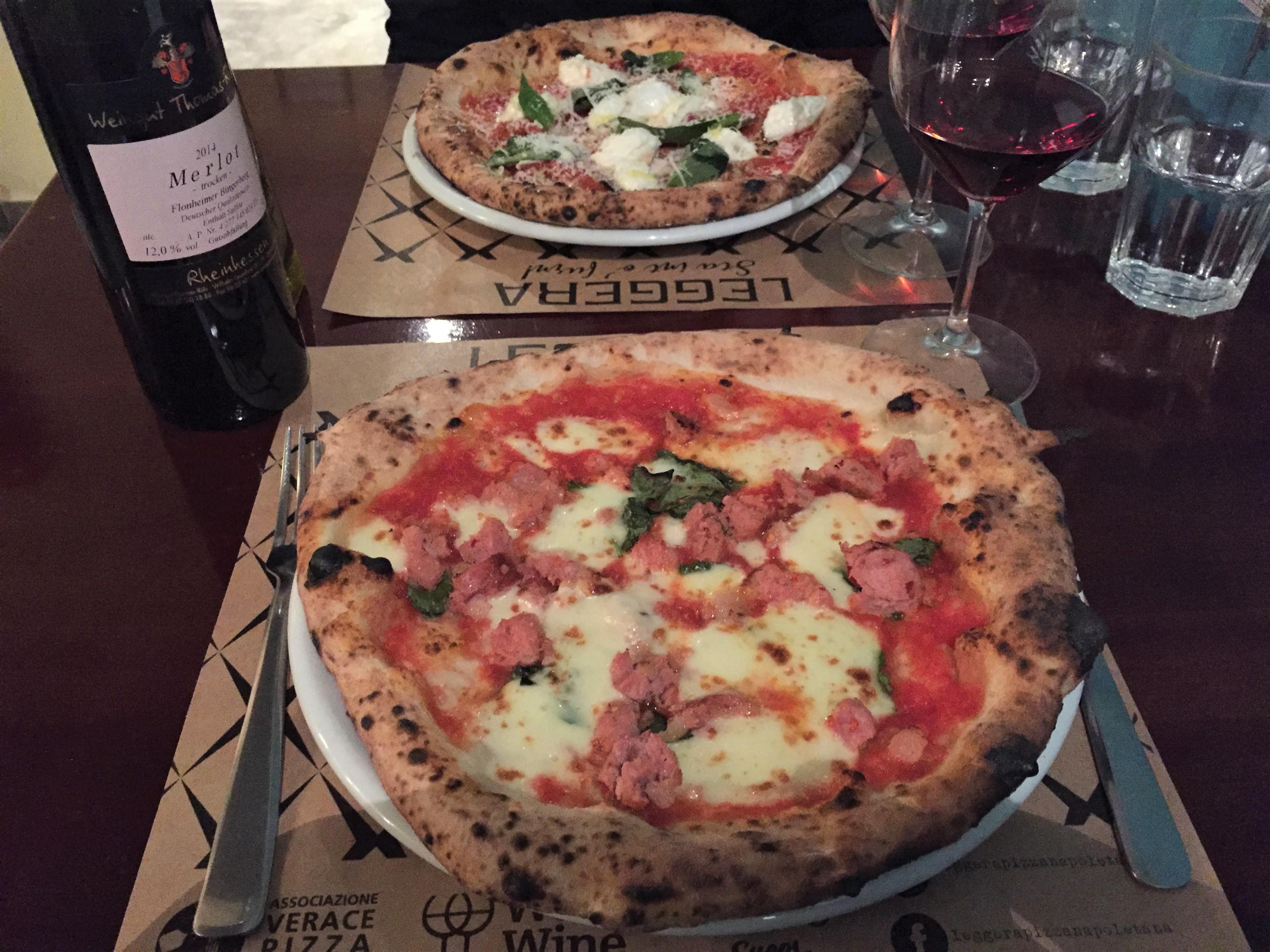 Harmonização pizza vinho tinto