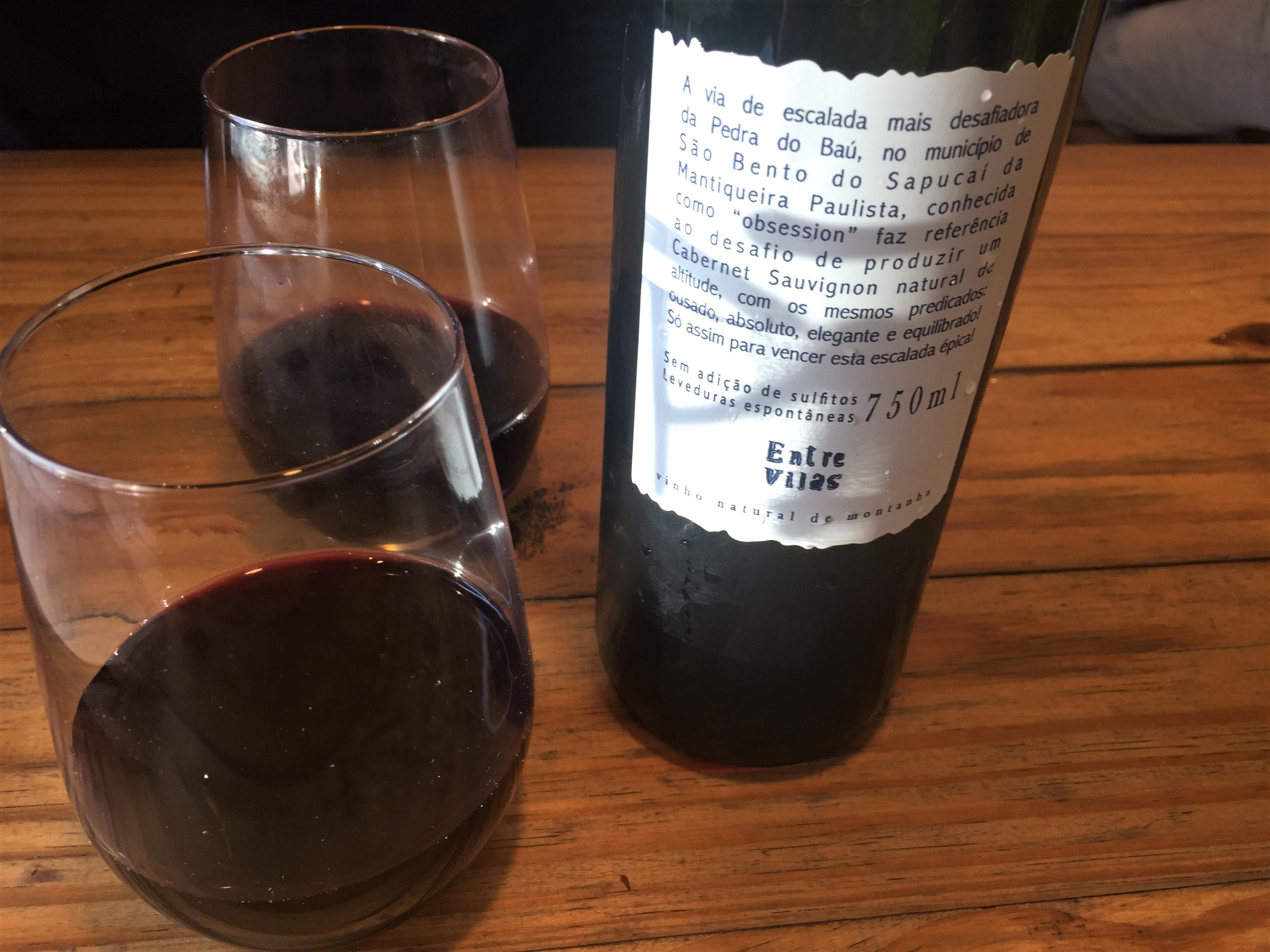 Entre Vilas vinho tinto natural Obsession