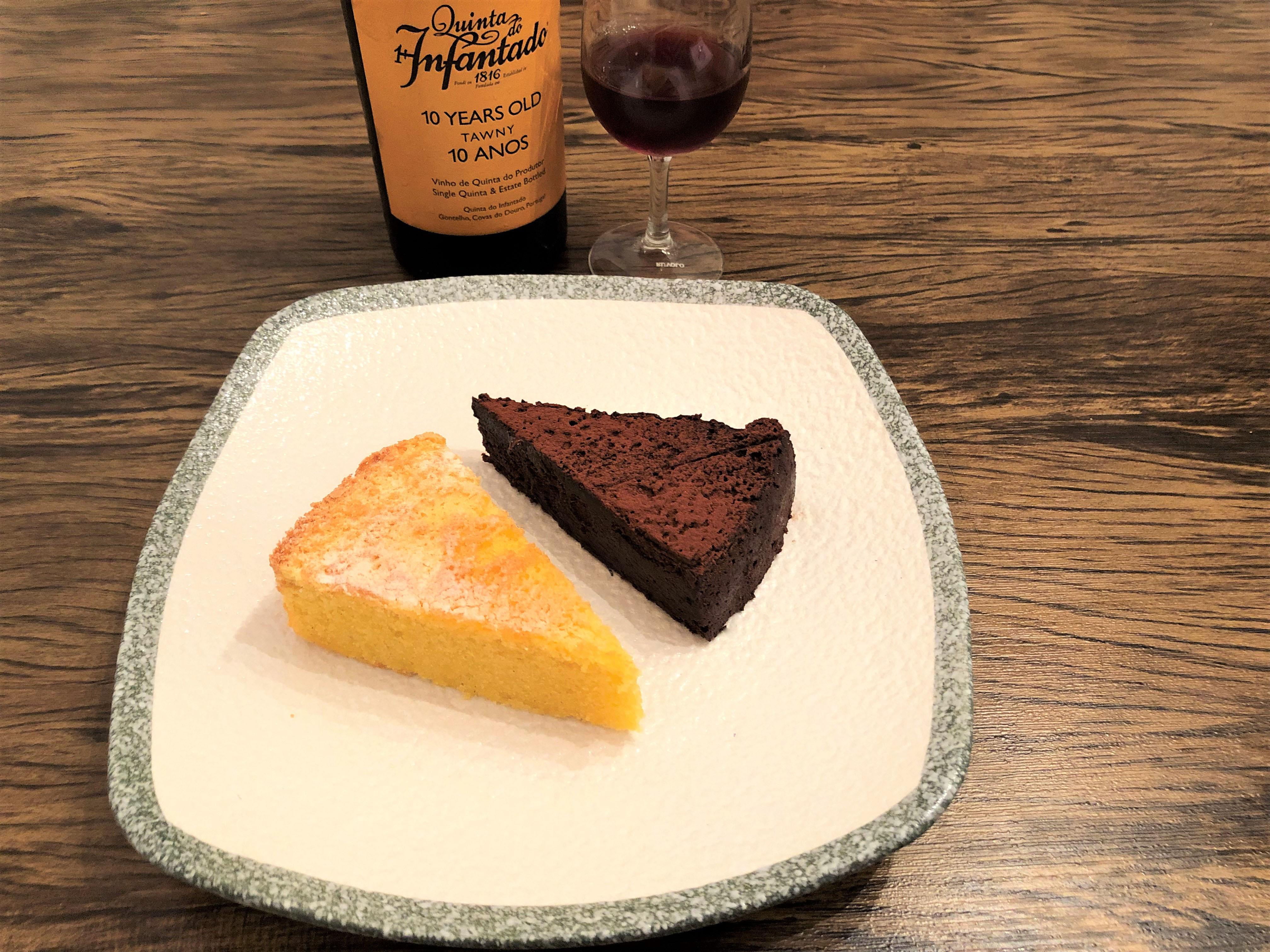 Harmonização vinho do porto torta