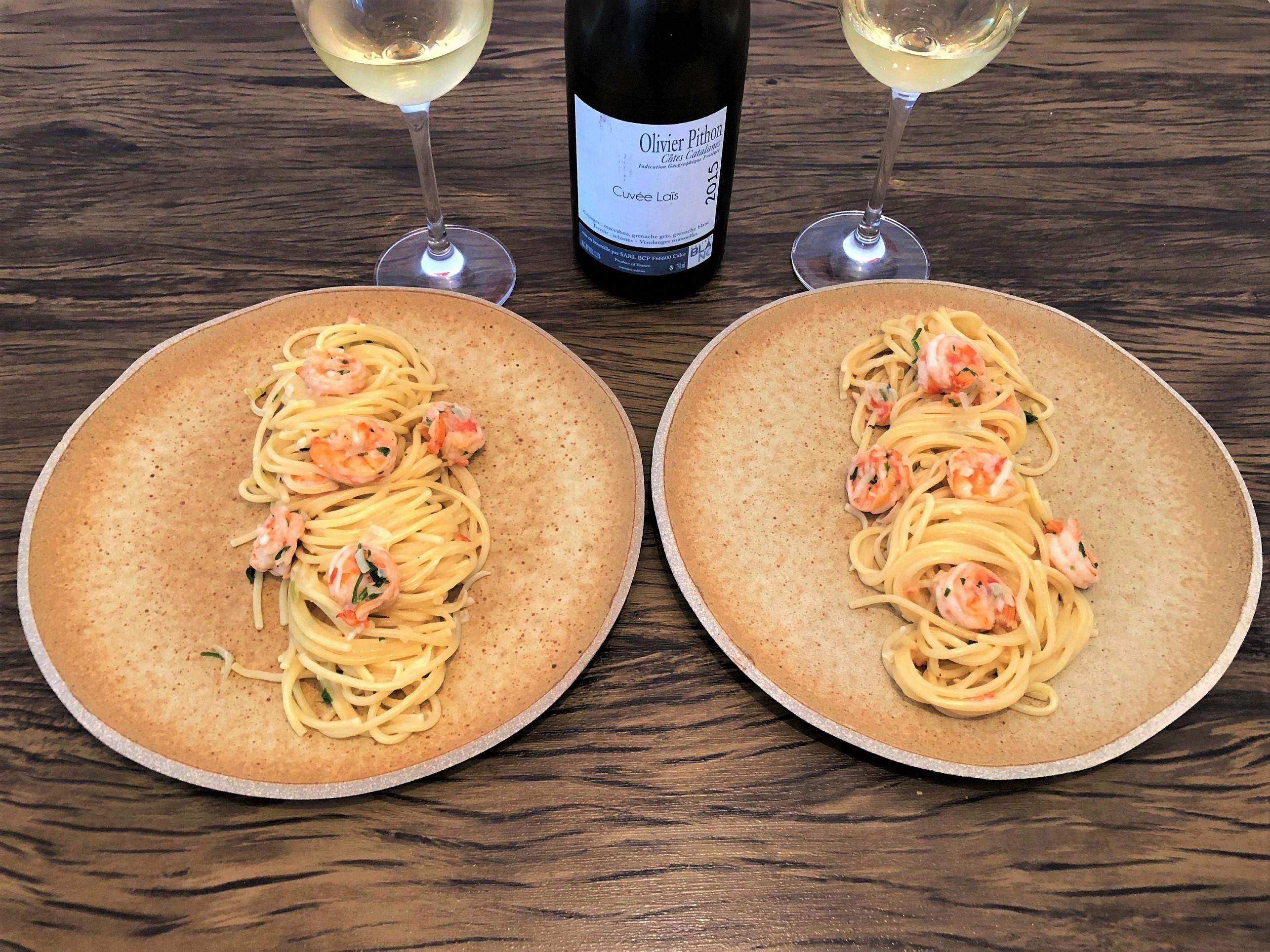 Harmonização vinho branco camarão