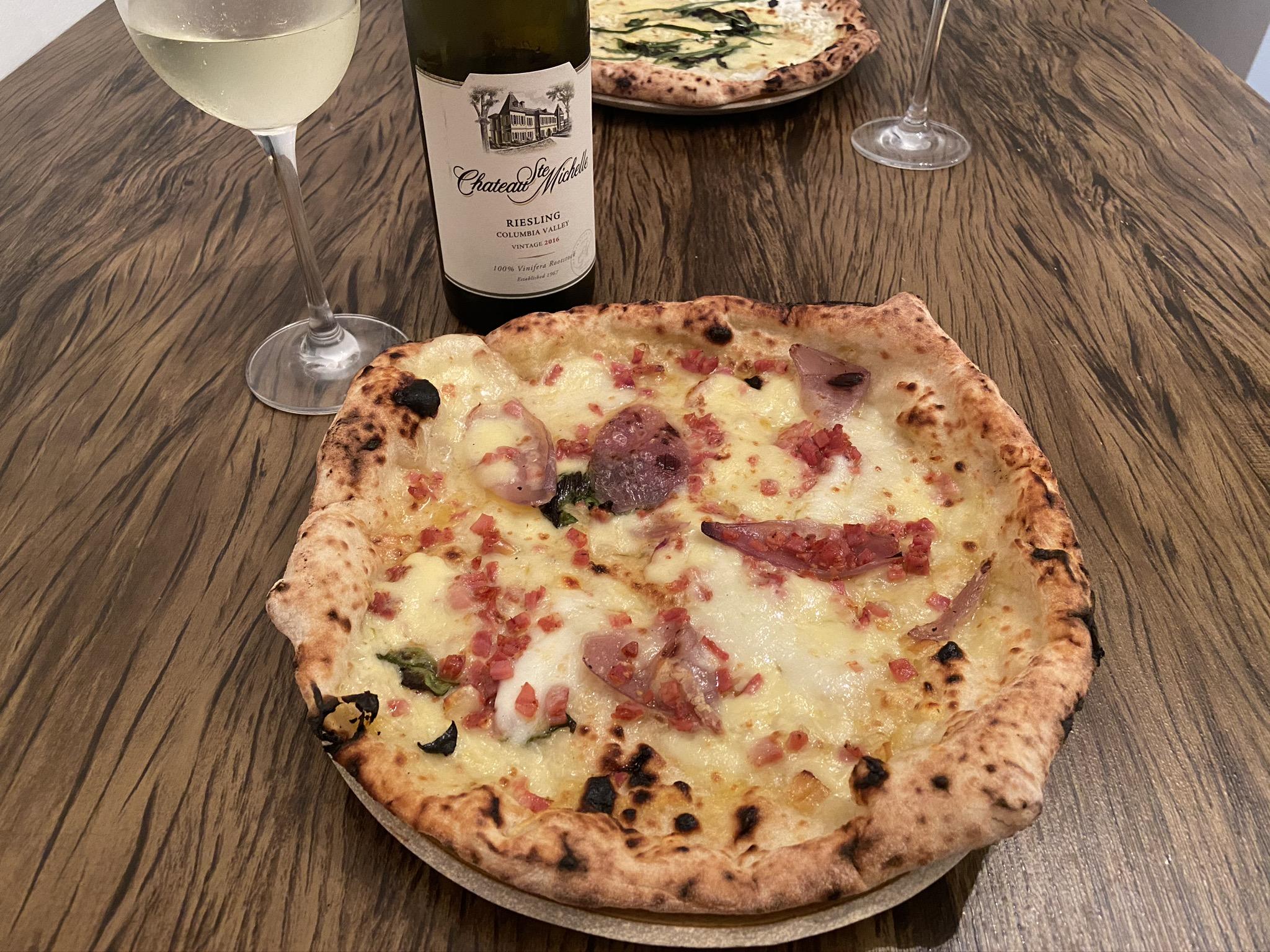 Harmonização pizza e vinho