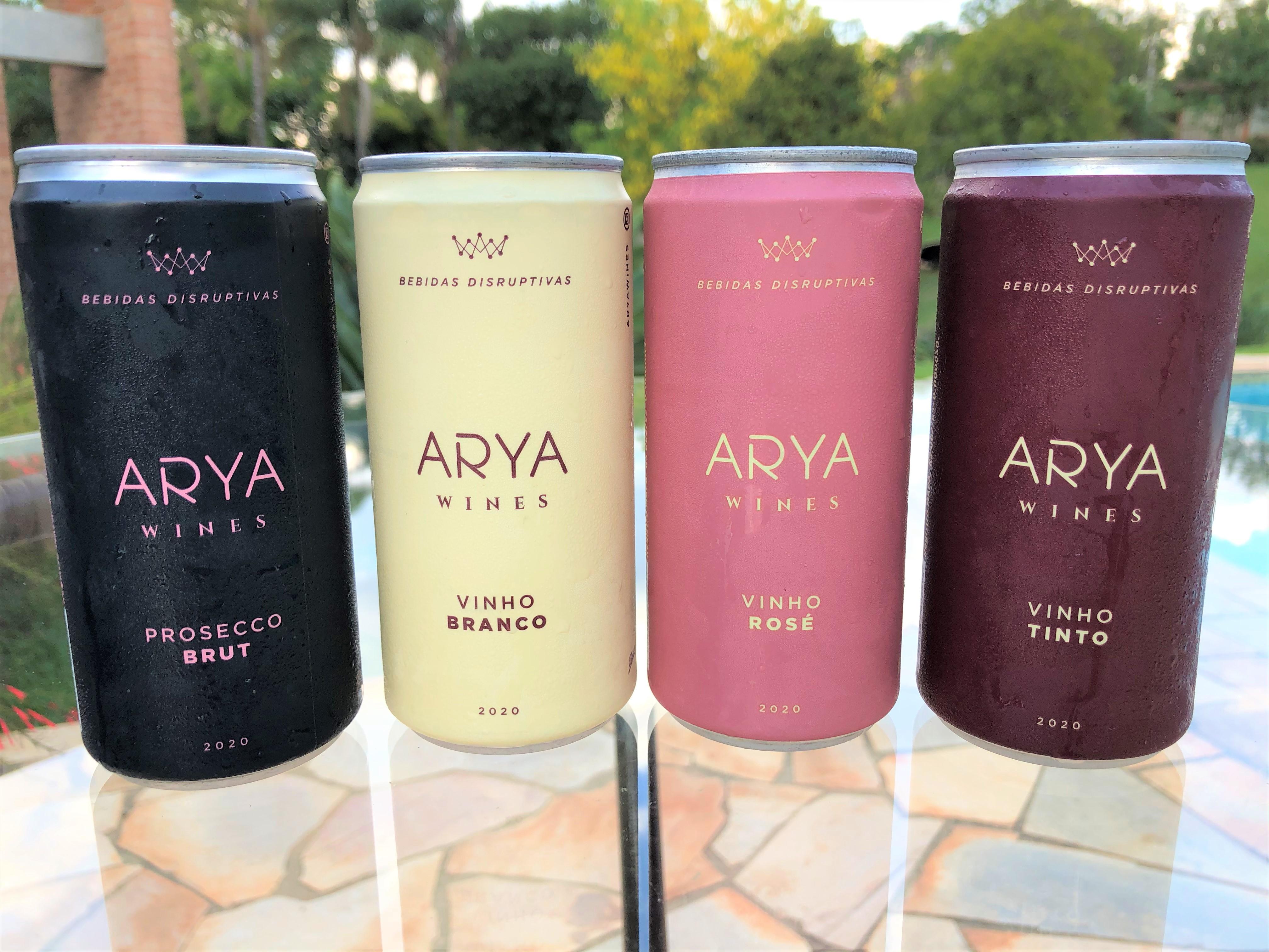 Vinho na lata Arya