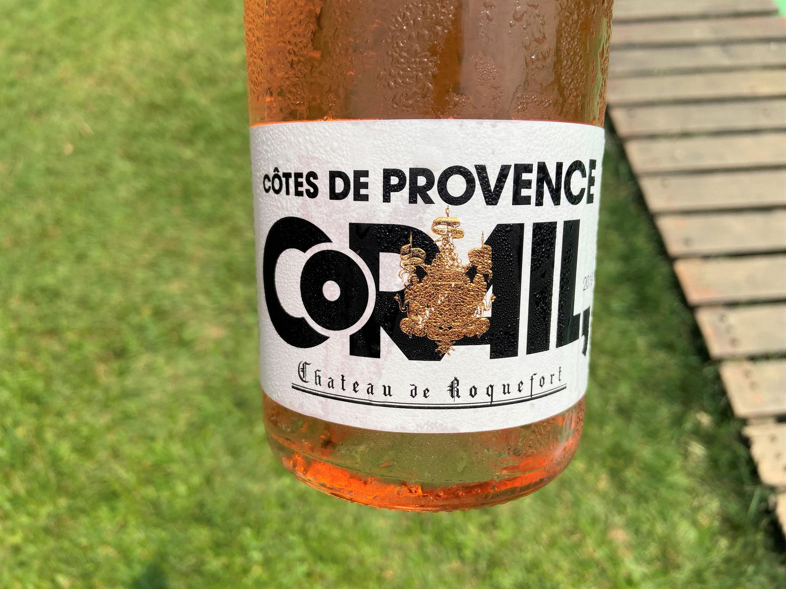 Vinho francês rosé Corail